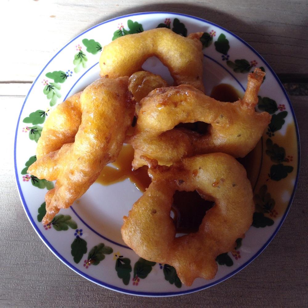 Picarones de La Granja Azul.