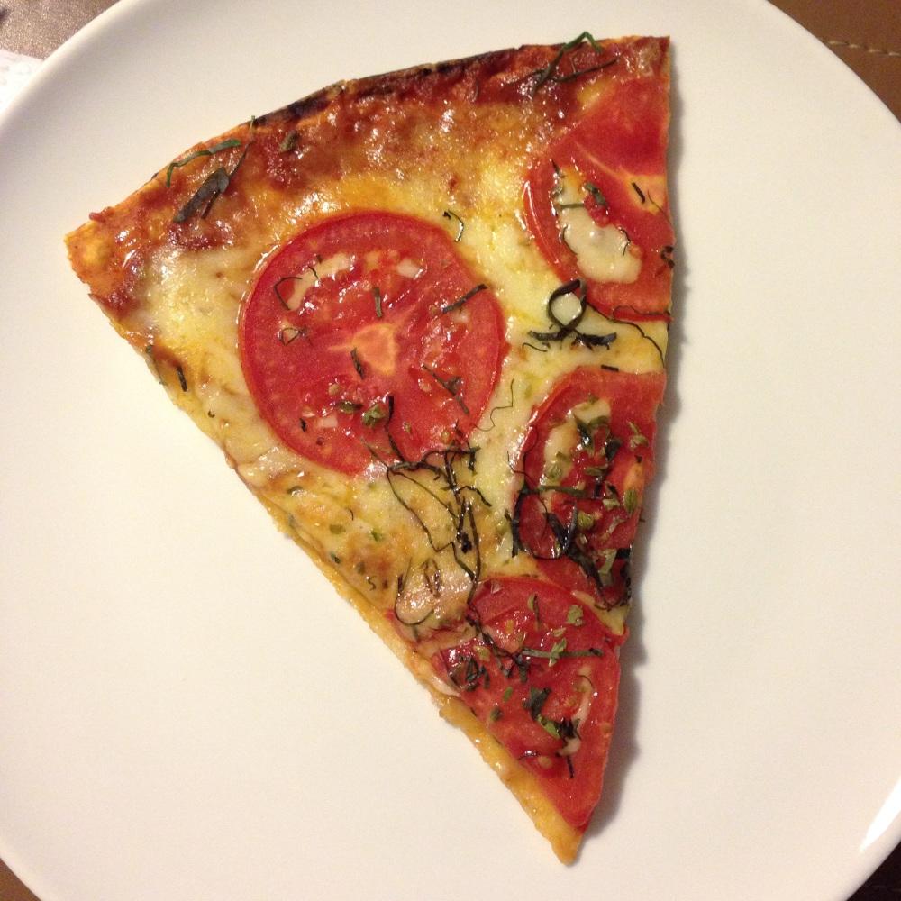Pizza margarita de La Linterna.